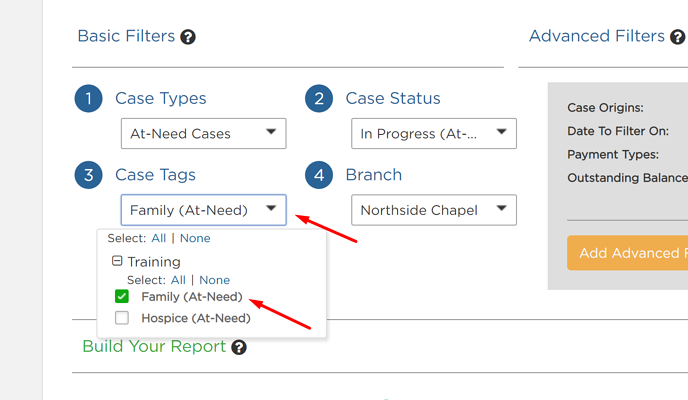 Case Tag in Report Builder