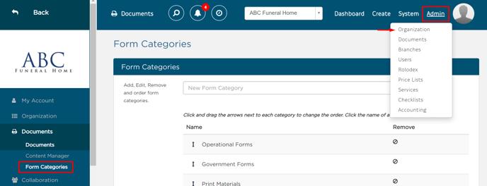 Form Categories