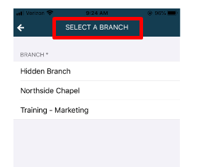 Select a branch