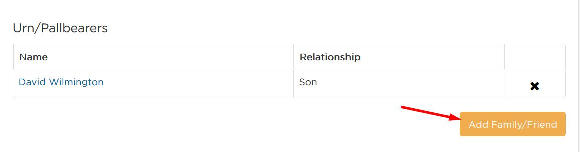 Add Family/Friend button
